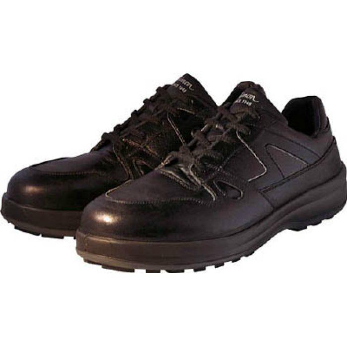 8611BK24.0 安全靴 短靴 8611黒 24.0cm