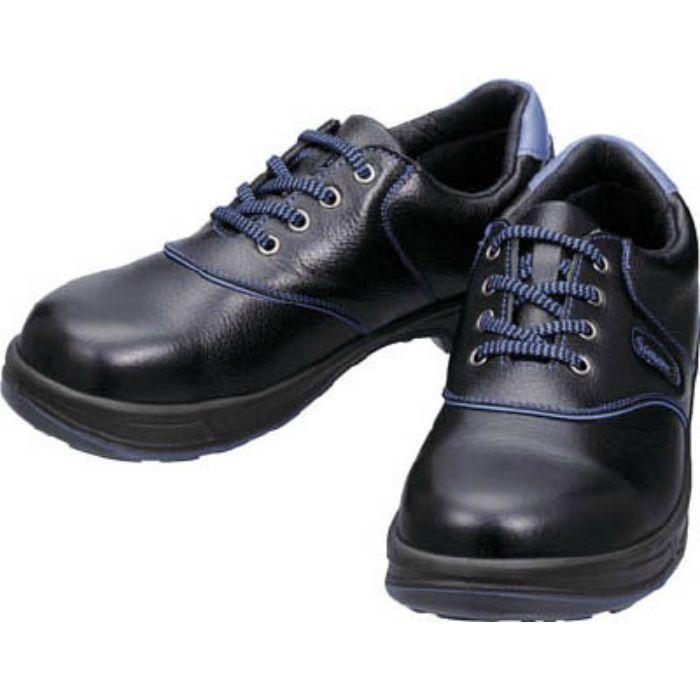 SL11BL25.0 安全靴 短靴 SL11-BL黒/ブルー 25.0cm