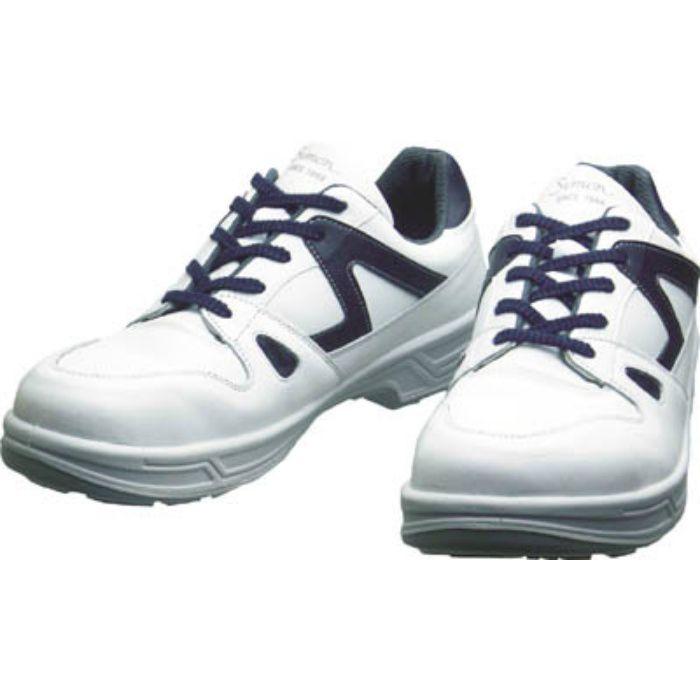 8611WB23.5 安全靴 短靴 8611白/ブルー 23.5cm