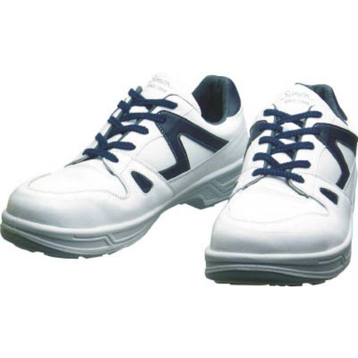 8611WB25.5 安全靴 短靴 8611白/ブルー 25.5cm
