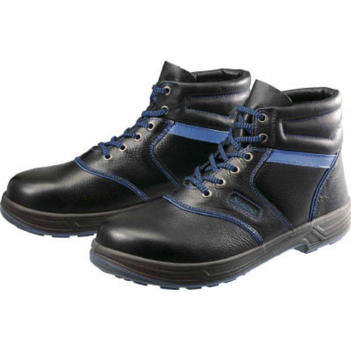 SL22BL25.0 安全靴 編上靴 SL22-BL黒/ブルー 25.0cm
