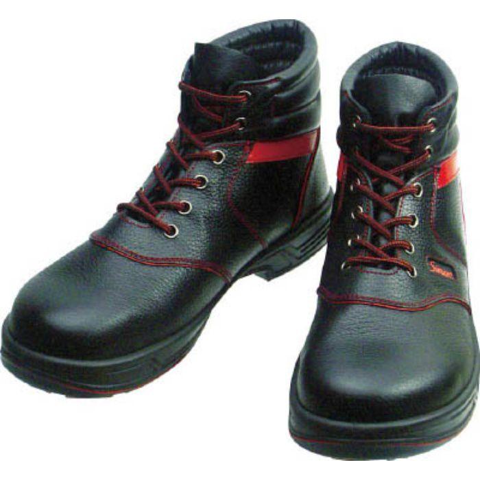 SL22R25.5 安全靴 編上靴 SL22-R黒/赤 25.5cm