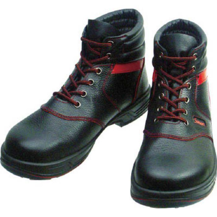 SL22R26.5 安全靴 編上靴 SL22-R黒/赤 26.5cm