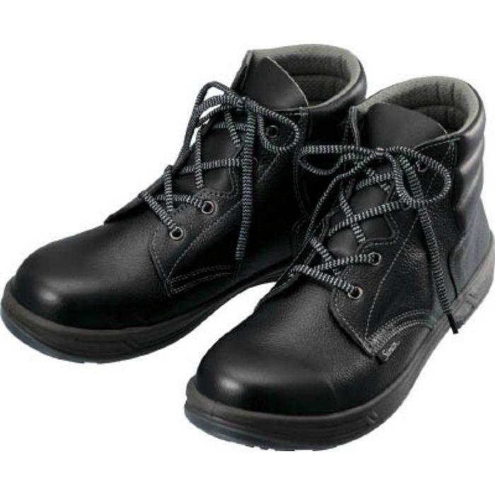 SS2223.5 安全靴 編上靴 SS22黒 23.5cm