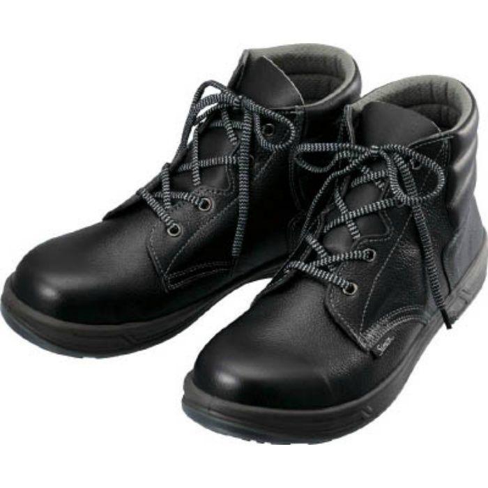 SS2225.5 安全靴 編上靴 SS22黒 25.5cm