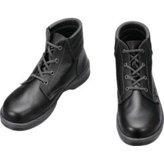 7522N25.5 安全靴 編上靴 7522黒 25.5cm