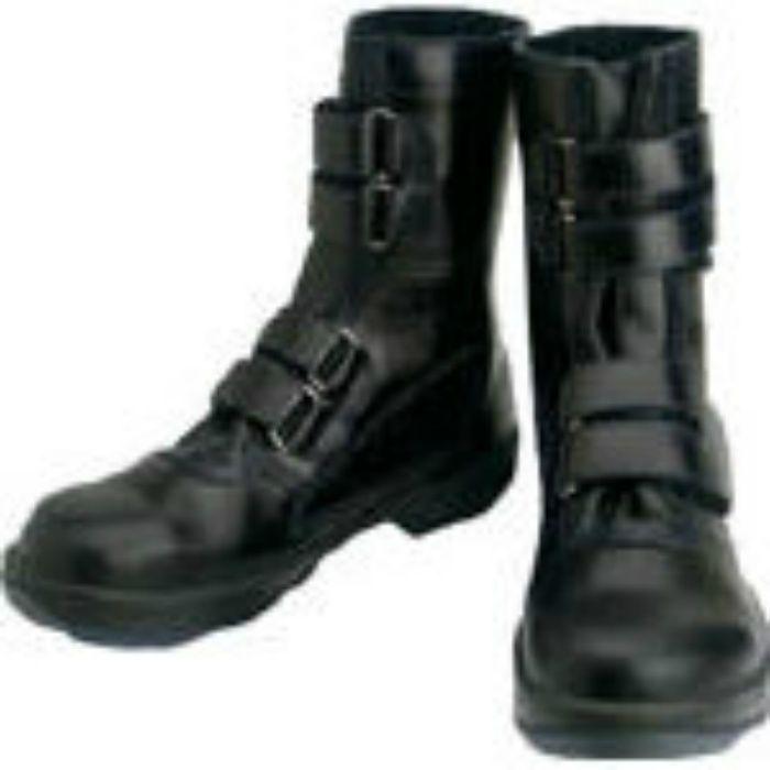 8538N23.5 安全靴 マジック式 8538黒 23.5cm