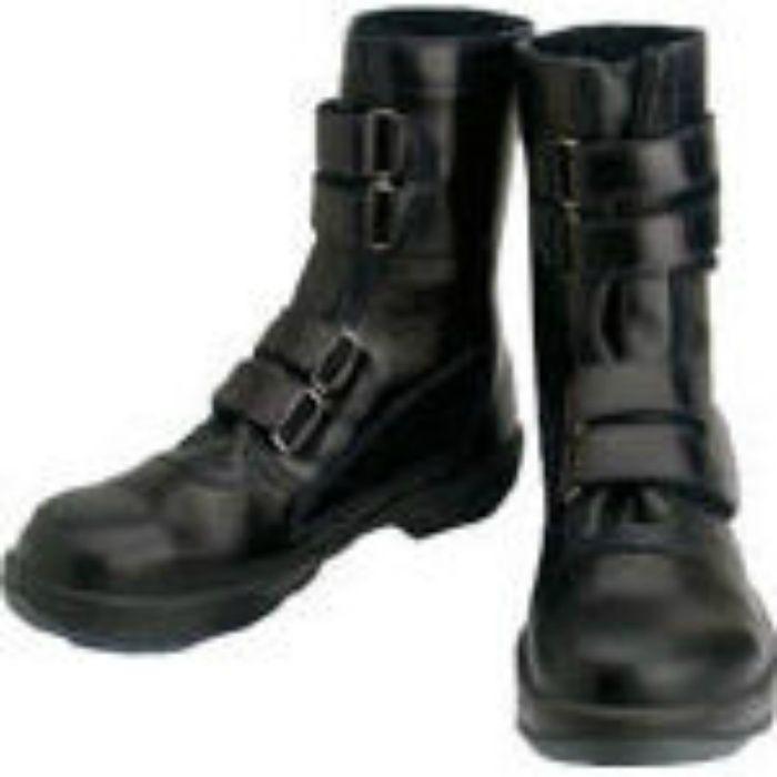 8538N24.0 安全靴 マジック式 8538黒 24.0cm
