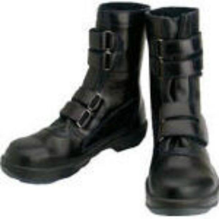 8538N24.5 安全靴 マジック式 8538黒 24.5cm