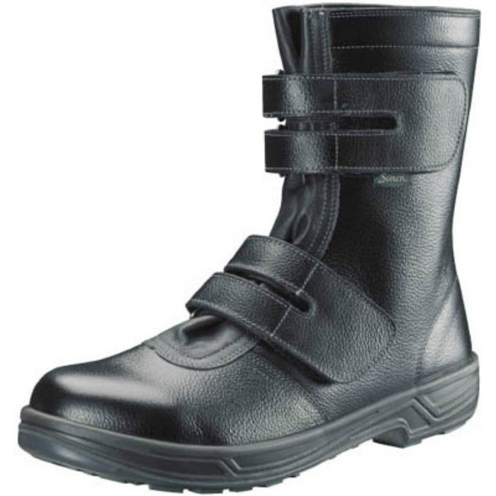 SS3824.5 安全靴 長編上靴マジック式 SS38黒 24.5cm