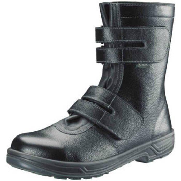SS3826.5 安全靴 長編上靴マジック式 SS38黒 26.5cm