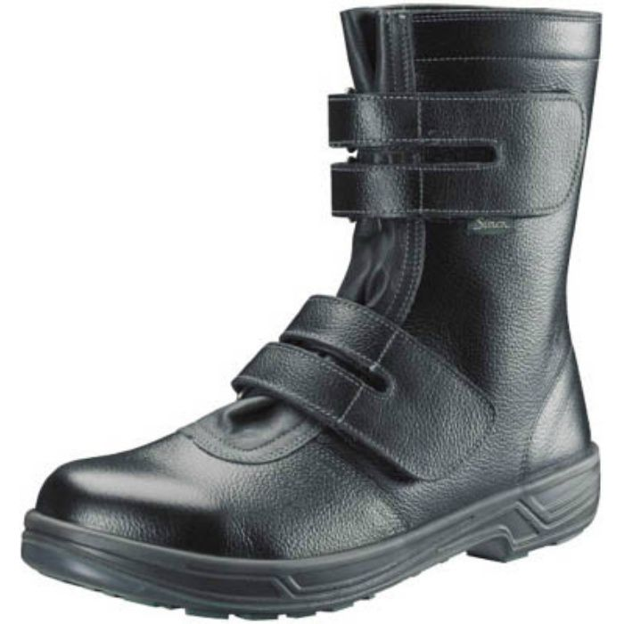 SS3827.0 安全靴 長編上靴マジック式 SS38黒 27.0cm