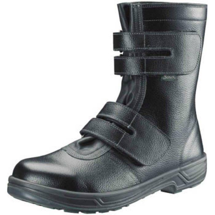 SS3828.0 安全靴 長編上靴マジック式 SS38黒 28.0cm