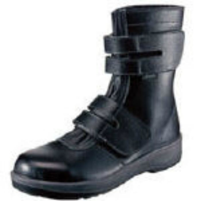 7538BK25.0 安全靴 長編上靴 7538黒 25.0cm