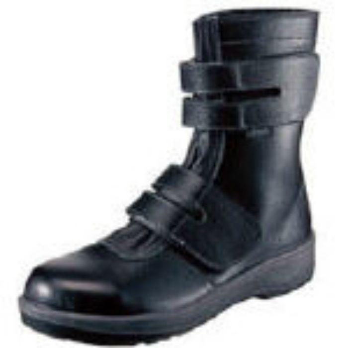 7538BK27.0 安全靴 長編上靴 7538黒 27.0cm