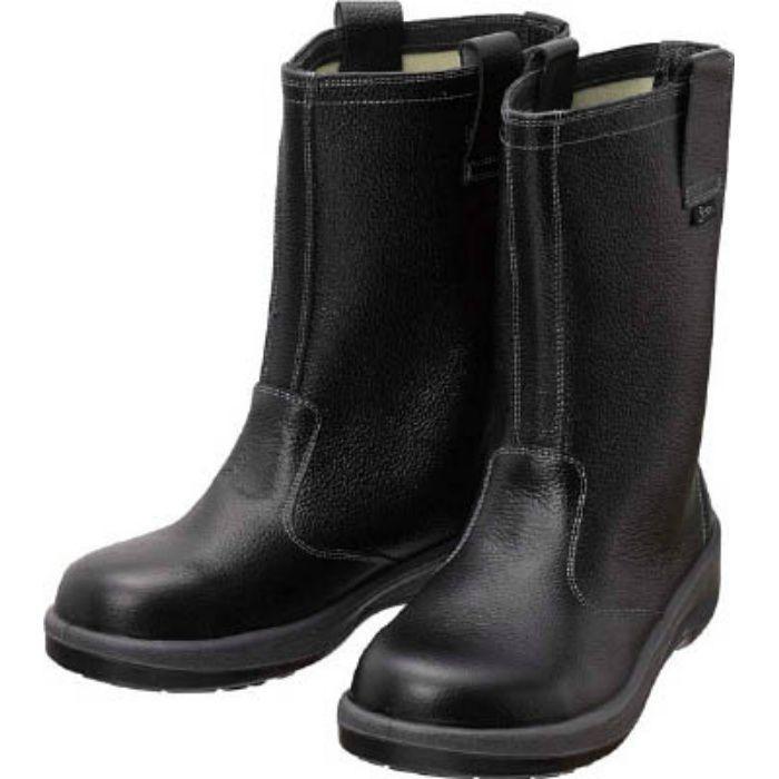 7544N25.0 安全靴 半長靴 7544黒 25.0cm