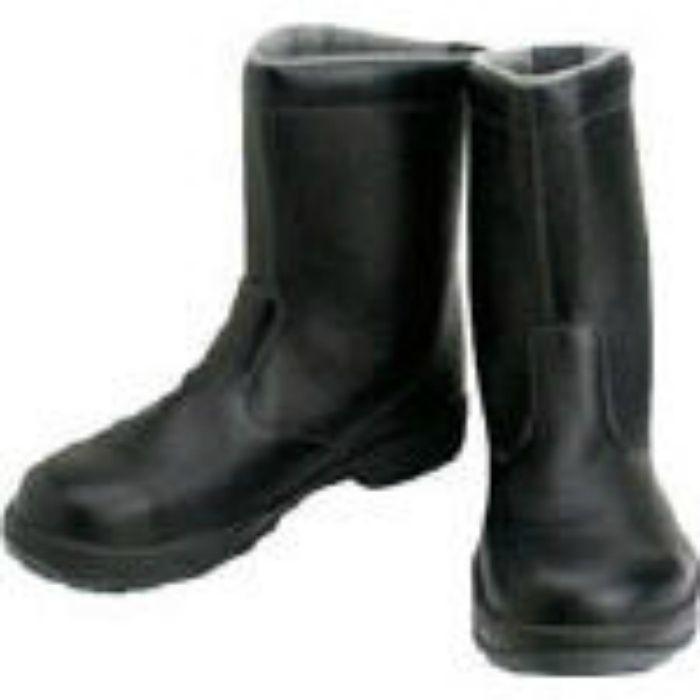 SS4424.5 安全靴 半長靴 SS44黒 24.5cm