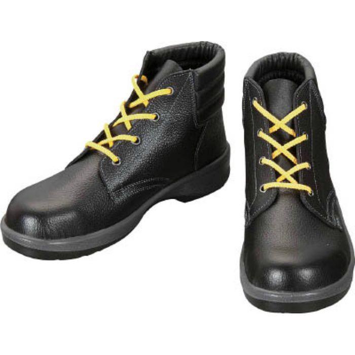 7522S24.0 静電安全靴 編上靴 7522黒静電靴 24.0cm
