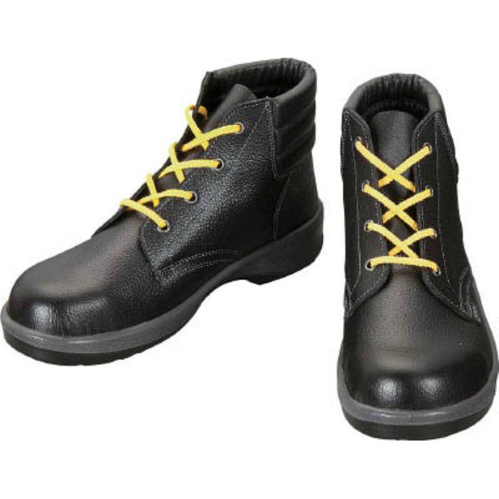 7522S24.5 静電安全靴 編上靴 7522黒静電靴 24.5cm