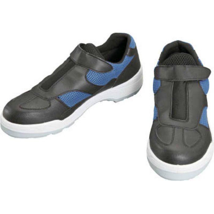 8818BBK24.0 プロスニーカー 短靴 8818黒/ブルー 24.0cm