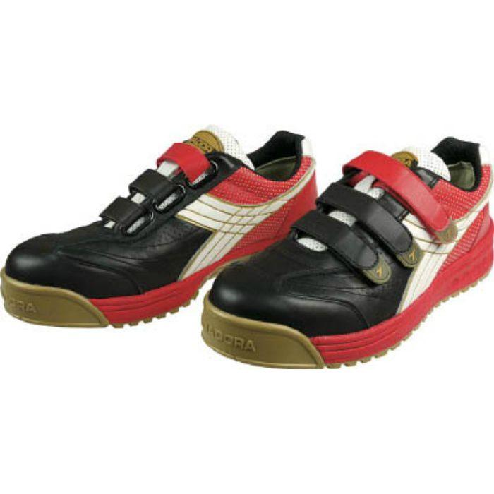 RB213255 DIADORA 安全作業靴 ロビン 黒/白/赤 25.5cm