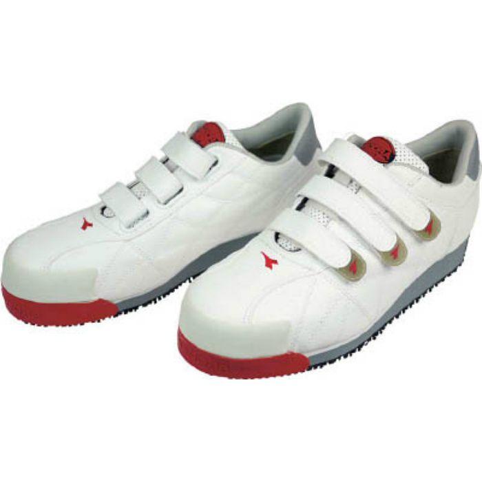 IB11255 DIADORA 安全作業靴 アイビス 白 25.5cm
