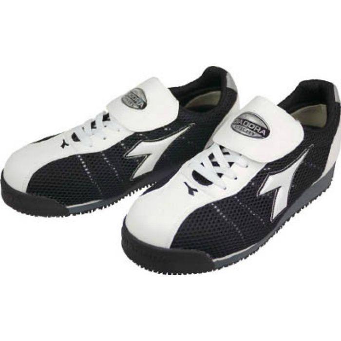 KF12245 DIADORA 安全作業靴 キングフィッシャー 白/黒 24.5cm
