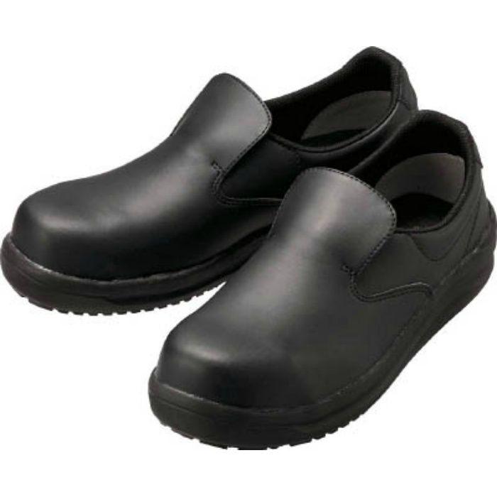 NHS600BK24.5 ワイド樹脂先芯入り超耐滑軽量作業靴 ハイグリップ 24.5CM