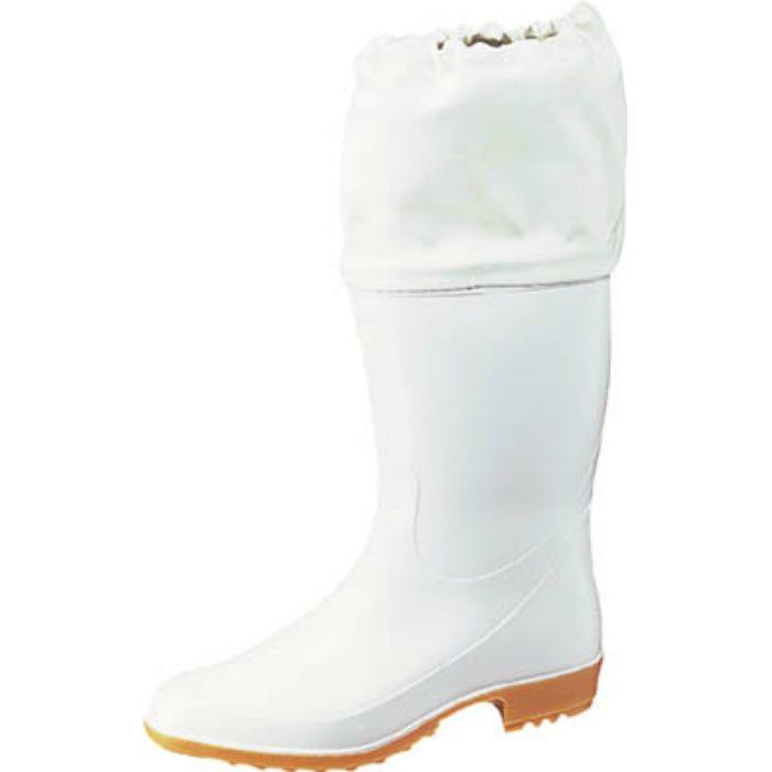 TSM9550W23.0 ホワイトカバー付衛生長靴 ワークマスターTSM955 白 23.0cm