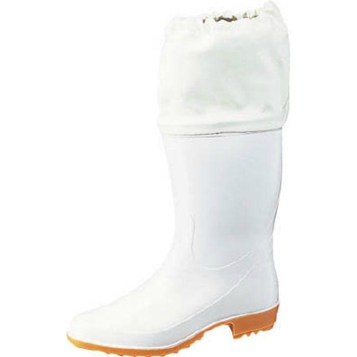 TSM9550W25.5 ホワイトカバー付衛生長靴 ワークマスターTSM955 白 25.5cm