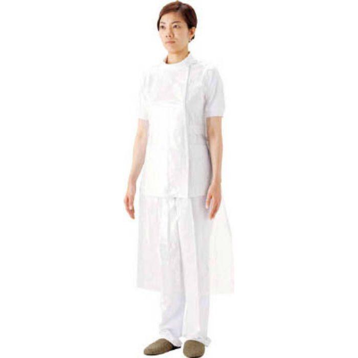 【入荷待ち】51077 プラスチックエプロン袖なしホワイト (50枚入)