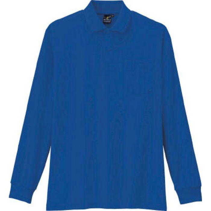 AS2586M 制電・防透・消臭長袖ポロシャツ 6ブルー M