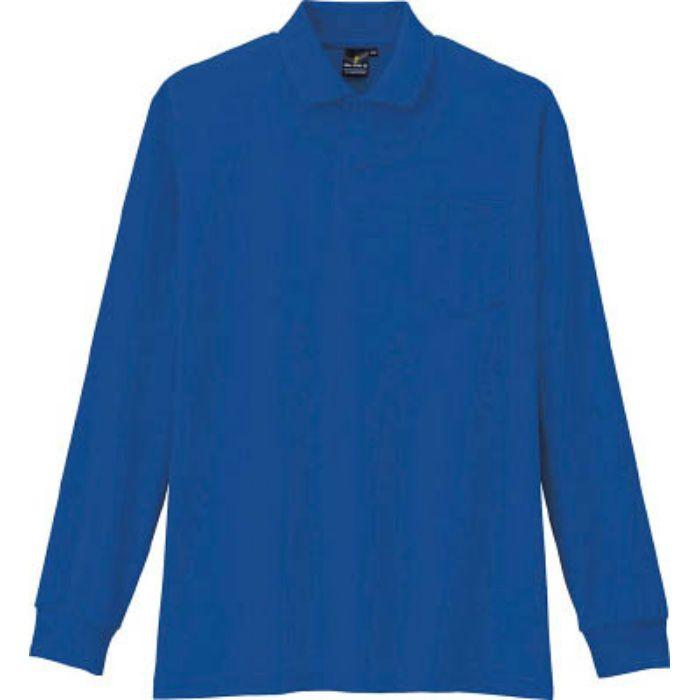AS2586S 制電・防透・消臭長袖ポロシャツ 6ブルー S