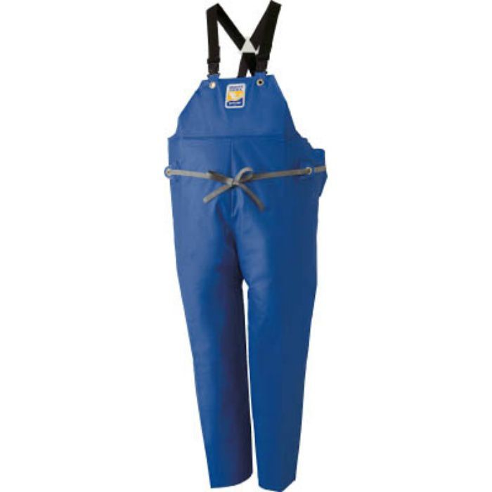 12063153 マリンエクセル 胸当て付きズボン膝当て付きサスペンダー式 ブルー M