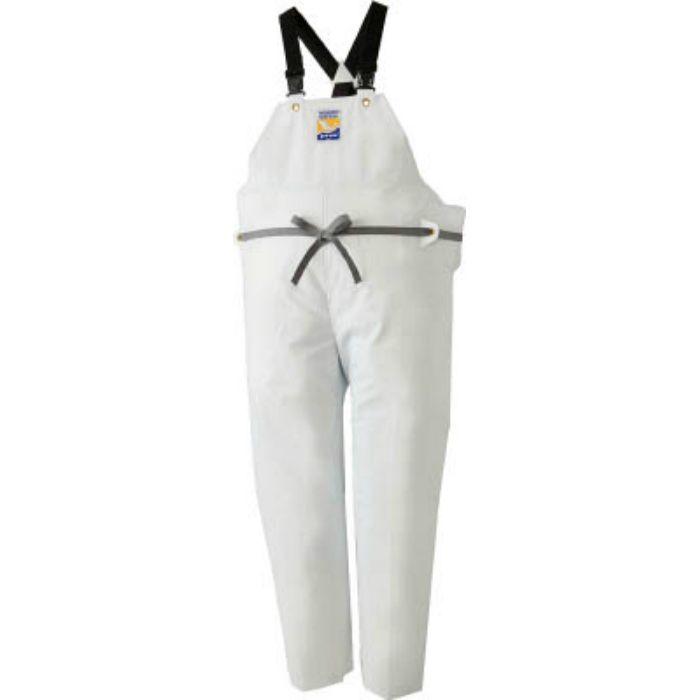 12063612 マリンエクセル 胸当て付きズボン膝当て付きサスペンダー式 ホワイト L