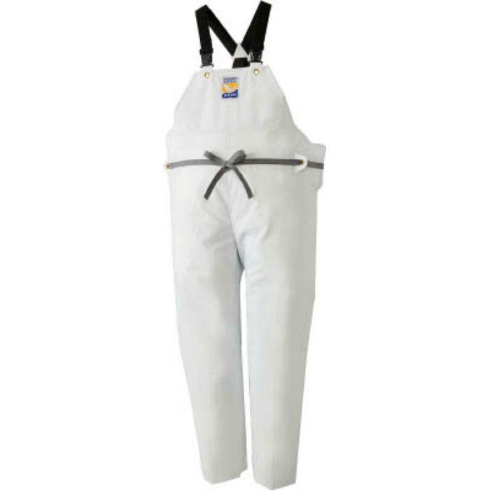 12063613 マリンエクセル 胸当て付きズボン膝当て付きサスペンダー式 ホワイト M