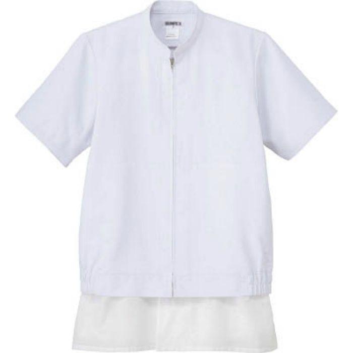 CD637S クールフリーデ男女兼用半袖ジャンパー ホワイト S