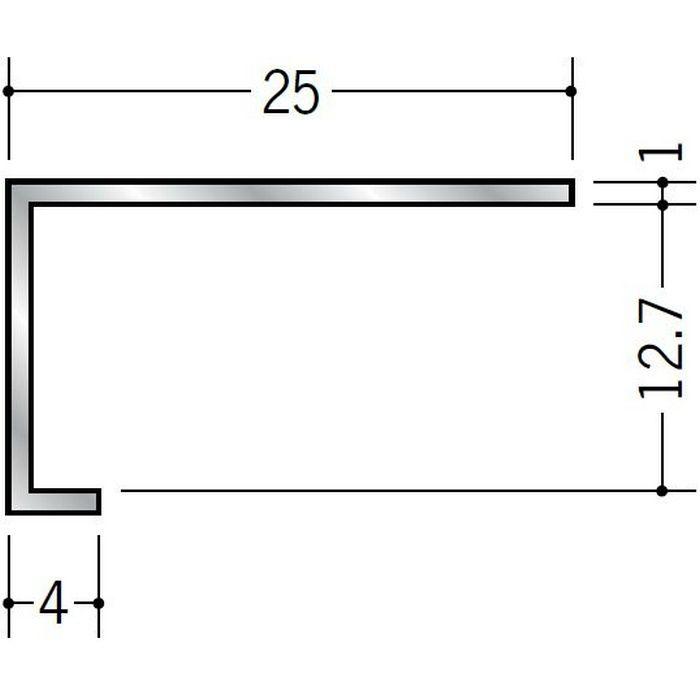 コ型見切縁 アルミ ATC-13 シルバー 3m  50033