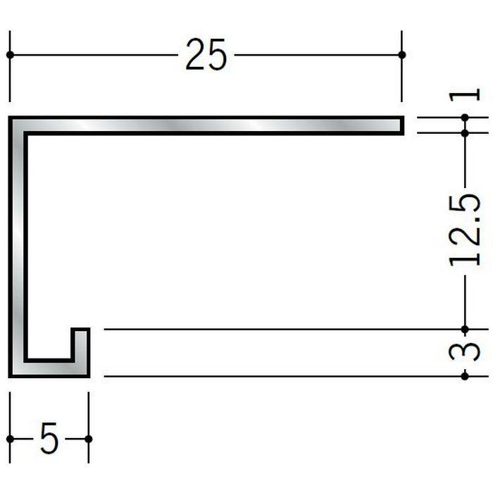コ型見切縁 アルミ CC-岩綿1205 シルバー 3m  52131