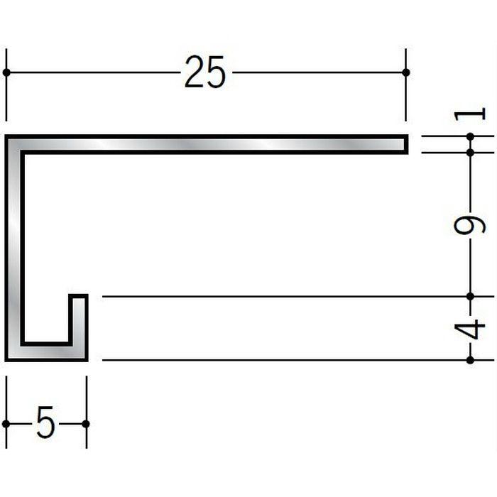 コ型見切縁 アルミ CC8 シルバー 3m  52029