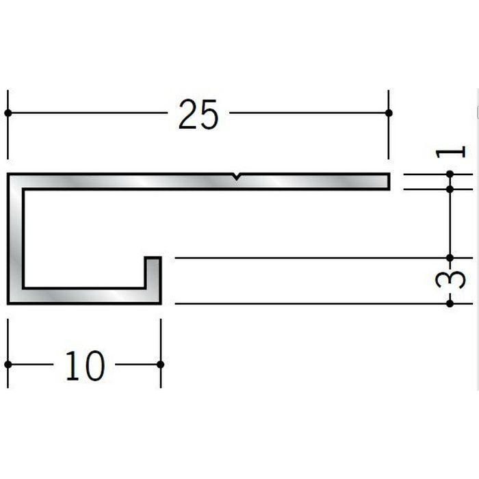 コ型見切縁 アルミ A型4.5 シルバー 3m  51011