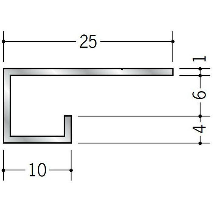 コ型見切縁 アルミ A型6 シルバー 3m  51014