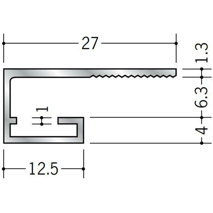コ型見切縁 アルミ SA-6 シルバー 3m  51093
