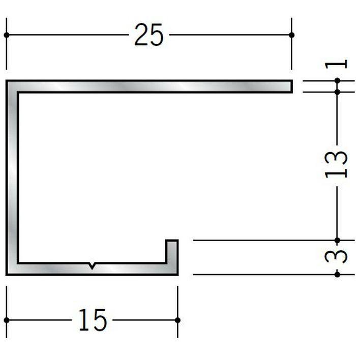コ型見切縁 アルミ A型13(中) シルバー 3m  51033