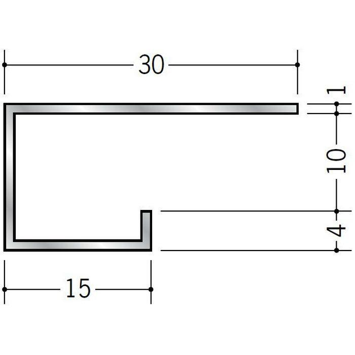 コ型見切縁 アルミ A型10(大) シルバー 3m  51023