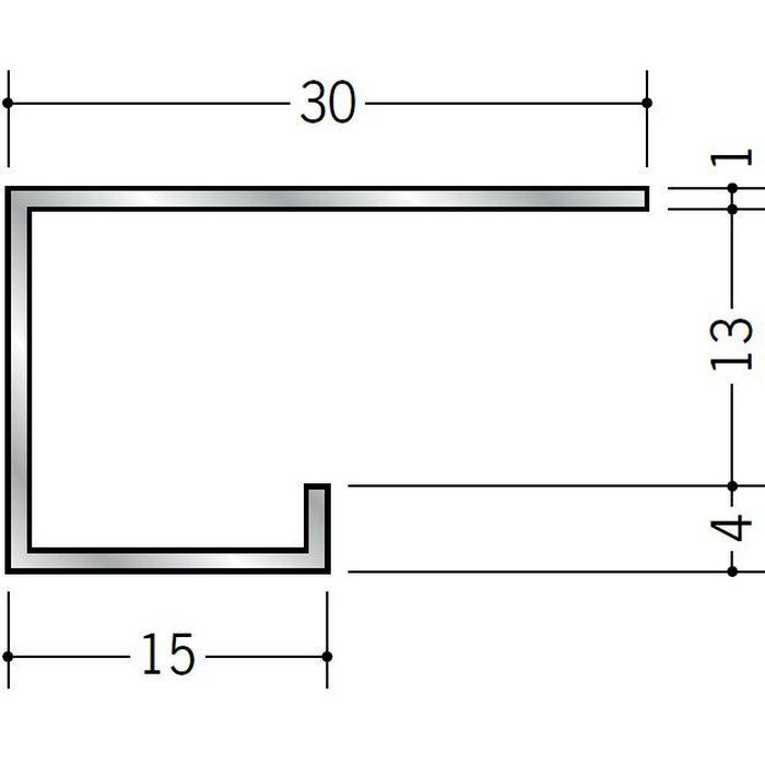 コ型見切縁 アルミ A型13(大) シルバー 3m  51024