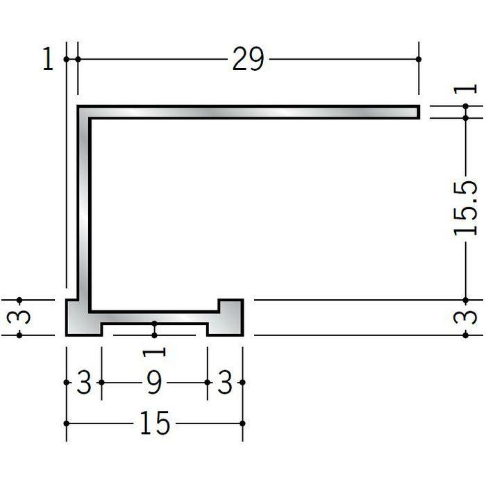 コ型見切縁 アルミ STA-15 シルバー 3m  52294