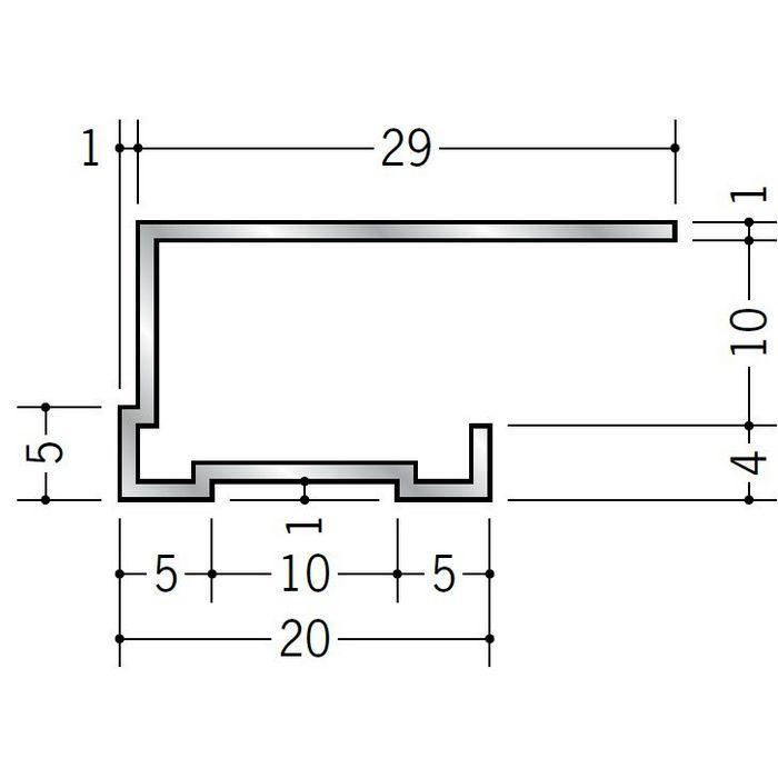 コ型見切縁 アルミ TLA-9 シルバー 3m  52273