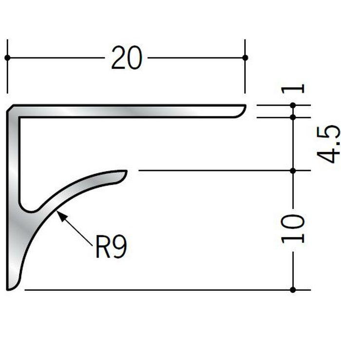 コ型見切縁 アルミ NR-4.5 シルバー 2.73m  54512