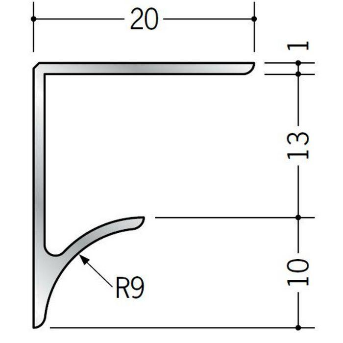 コ型見切縁 アルミ NR-13 シルバー 2.73m  54517
